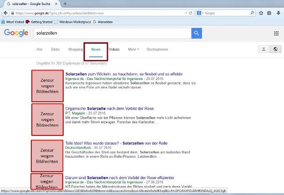 Nische: Google News zusammenfassen