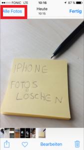 Iphone - Bilder löschen 1
