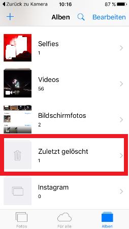 Iphone - Bilder löschen 3