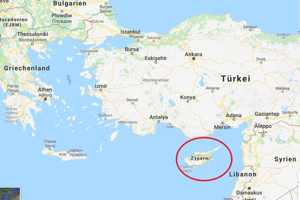 Zypern Landkarte Memory Palace De