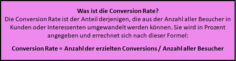 Was ist die Conversion Rate - Definition und Erklärung