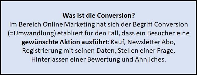 Was ist die Conversion im Online Marketing - Definition